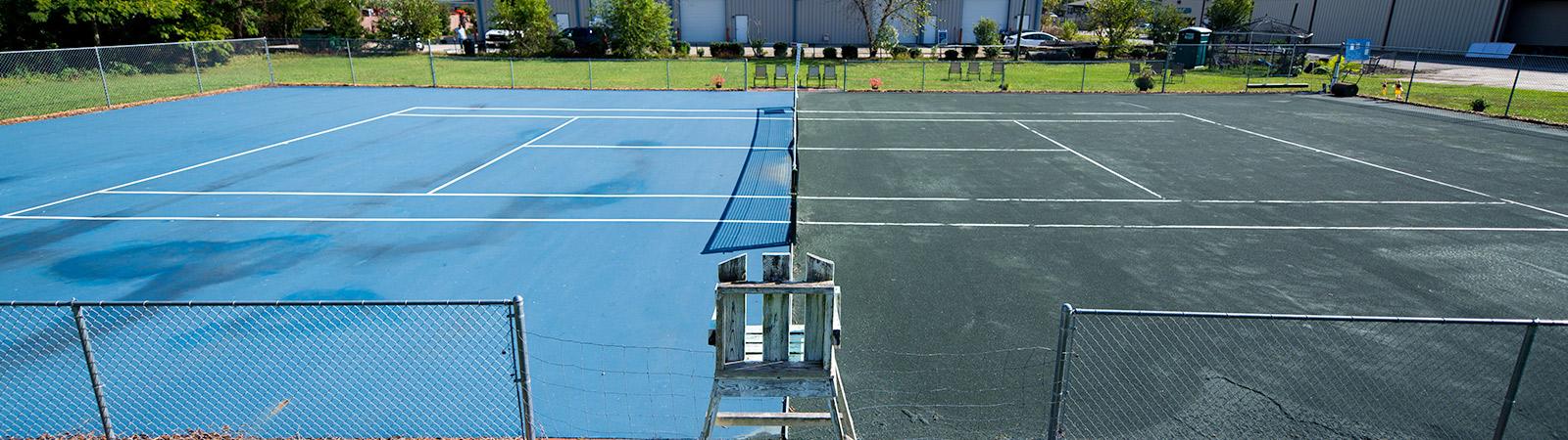 Hybrid Tennis Court
